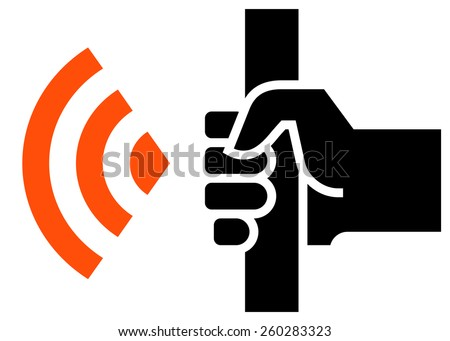 WiFi in public transport icon - stock vector