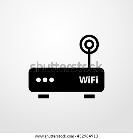 wifi router icon. wifi router sign - stock vector