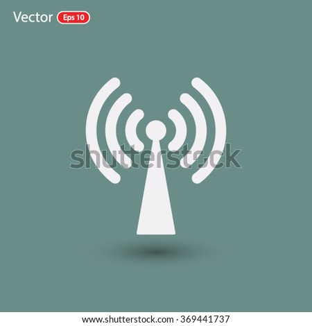 wifi, wi-fi icon. One of set web icons - stock vector
