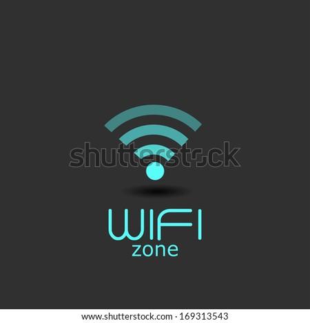wifi zone - stock vector