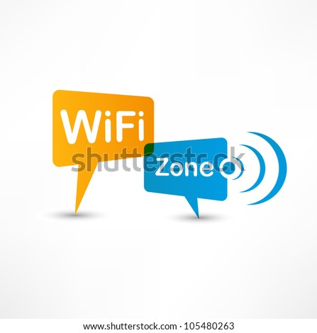 WiFi Zone speech bubbles - stock vector