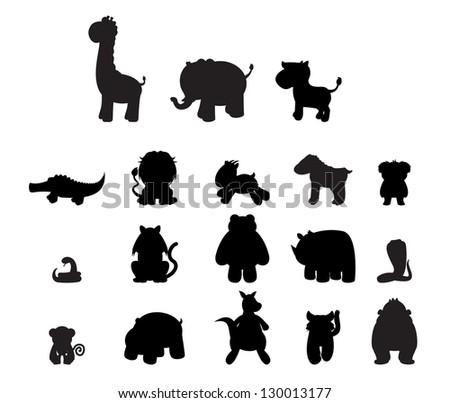 Wild Animal Set - stock vector