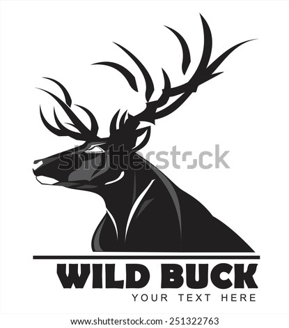 Wild Black Buck, symbolizing power, protection, dignity, etc. Suitable for team Mascot ,community identity, product identity, corporate identity, illustration for apparel, clothing, illustration, etc - stock vector
