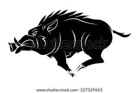 Wild Boar Tattoo Mascot - stock vector