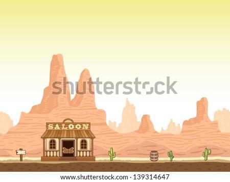 Wild West - stock vector
