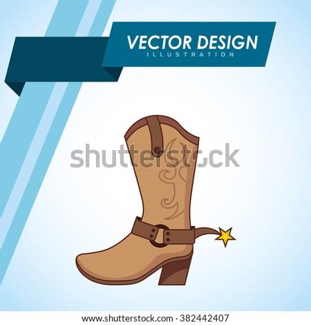 wild west design  - stock vector