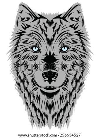 Wild wolf. Vector Graphics - stock vector