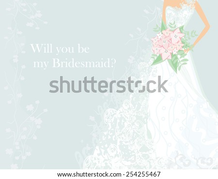 Will you be my Bridesmaid? - stock vector