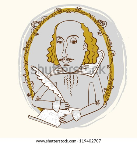 William Shakespeare. - stock vector