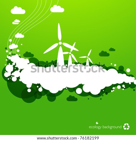 wind energy background - creative illustration for green energy concepts - stock vector