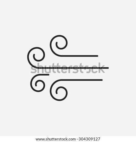 wind icon - stock vector