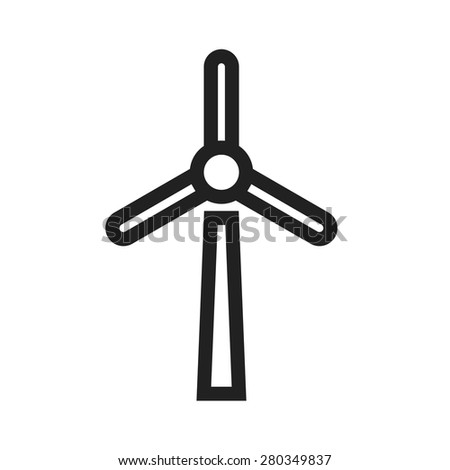 Wind mill, wind, energy icon vector image. Can also be used for energy and technology. Suitable for web apps, mobile apps and print media. - stock vector