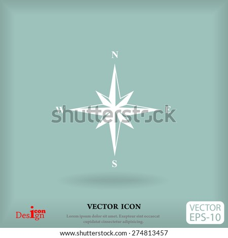 wind rose vector icon - stock vector