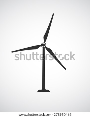 wind turbine icon design - stock vector