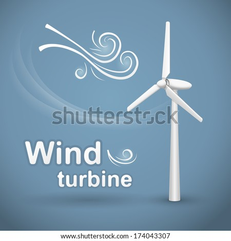 stock-vector-wind-turbine-wind-powered-electrical-generator-174043307 ...