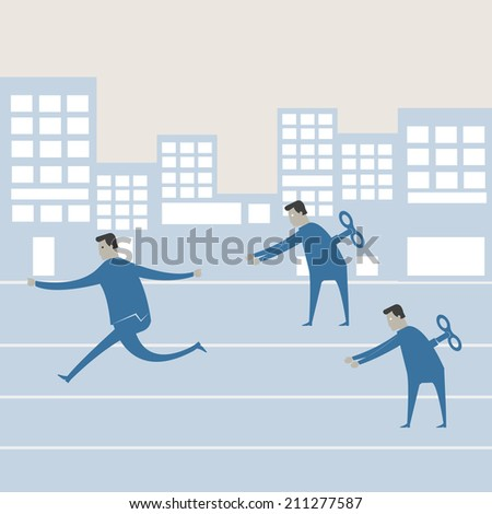 Wind up toy businessman   - stock vector