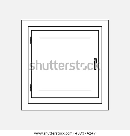 Window-black and white on a gray background - stock vector