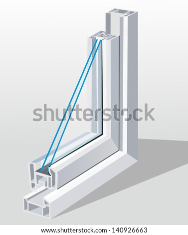 Window cross section eps10 - stock vector