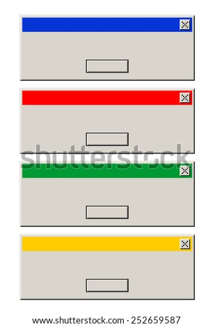 Window messages - stock vector