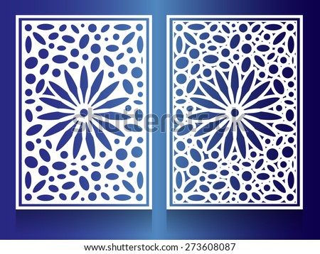 window Steel white flower Combination of circles and ovals Background Pattern - stock vector