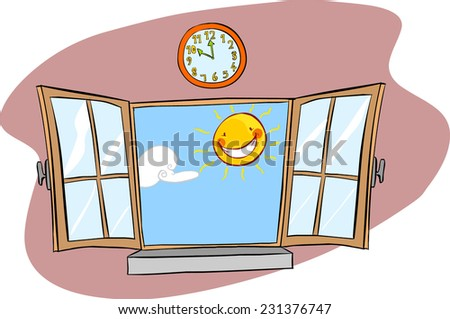 window sun  - stock vector