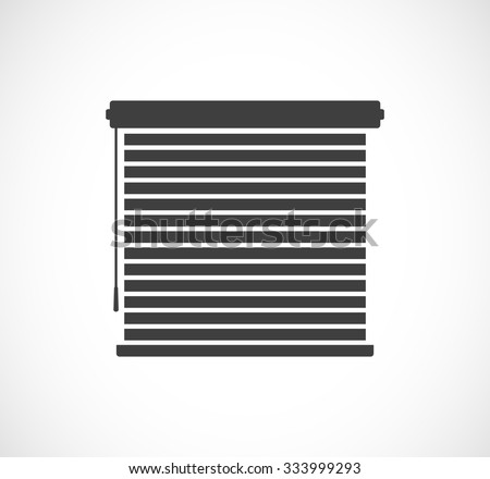 window sun blinds black icon - stock vector