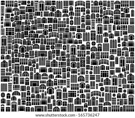 Windows - Illustration texture - stock vector