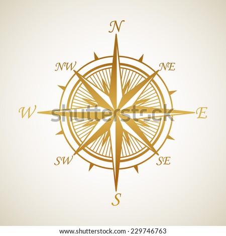 Windrose. Vector illustration - stock vector