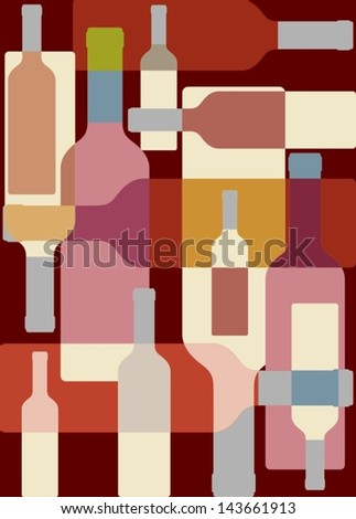 Wine colorful background - stock vector