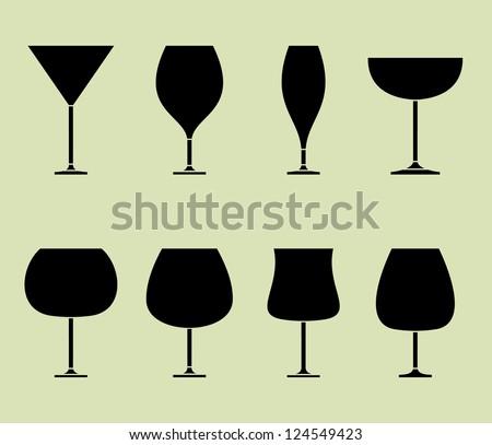 Wine glass  design  vector illustration - stock vector