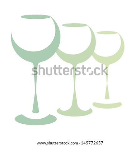 Wine glasses - stock vector