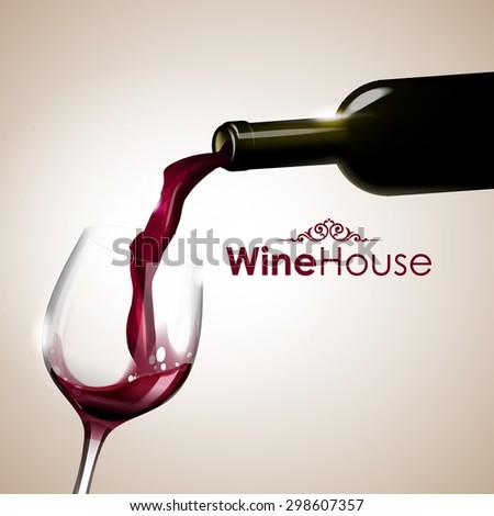 wine house - stock vector