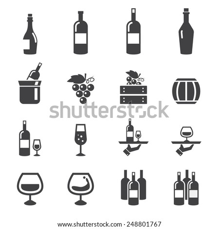 wine icon - stock vector