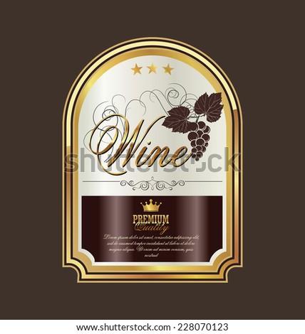 Wine label - stock vector