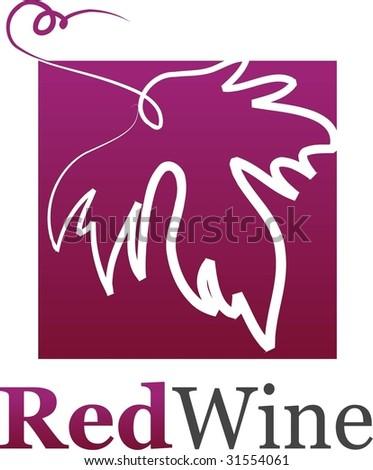 wine leaf icon - stock vector