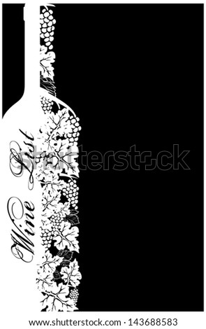 Wine list vector - stock vector