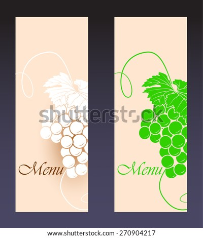 Wine menu background (vector image) - stock vector