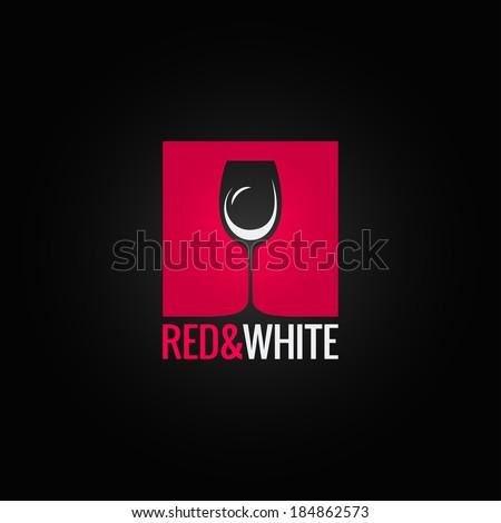 wine menu glass design background - stock vector