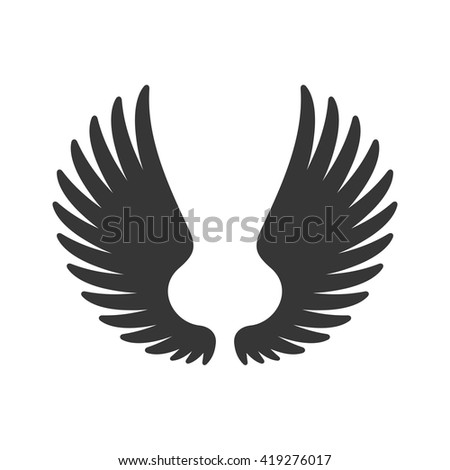 Wing Icon on White Background. Vector illustration - stock vector