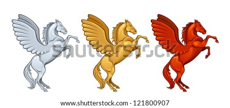 Winged horse - stock vector