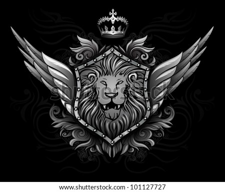 Winged Lion Insignia 2 - stock vector