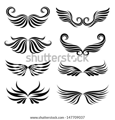Wings Tattoo Collections - stock vector