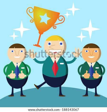 Winner Businessman - stock vector