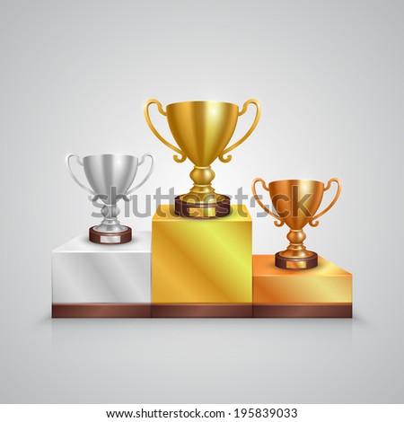 Winner cup. Vecto - stock vector