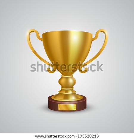 Winner cup. Vector  - stock vector