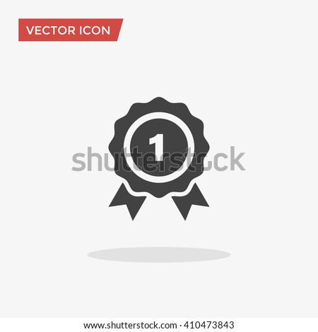 Winner Icon in trendy flat style isolated on grey background. Victory symbol for your web site design, logo, app, UI. Vector illustration, EPS10. - stock vector