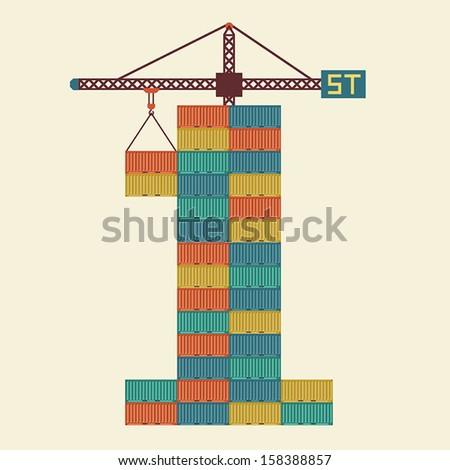 Winner shipping, Business idea - stock vector