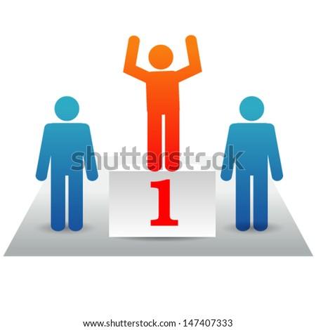 Winners Conceptual illustration  - stock vector