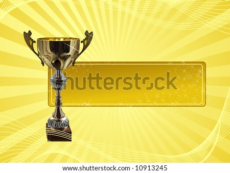 Winners_frame, vector illustration, EPS file included - stock vector