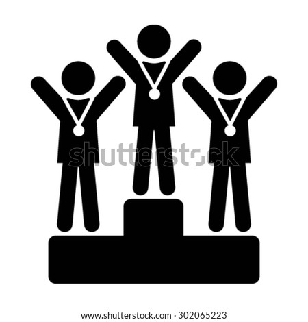Winners Icon - Vector - stock vector